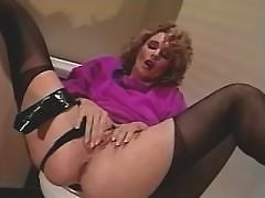 Beautiful lesbian have oral on sofa