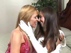 Cute young lesbians love each other