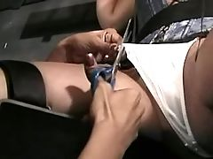 Angel tortured by lesbian mistress