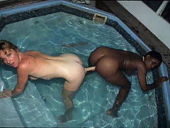 Two interracial lesbian MILFs go toe to toe and cunt to cunt!